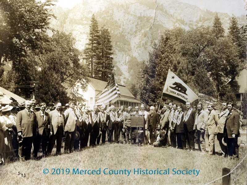 First convention ever in Yosemite Valley was held by Native Sons of the Golden West in 1908.